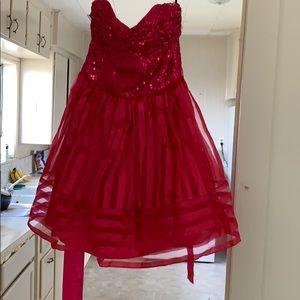 Berserk Johnson pink HOCO dress